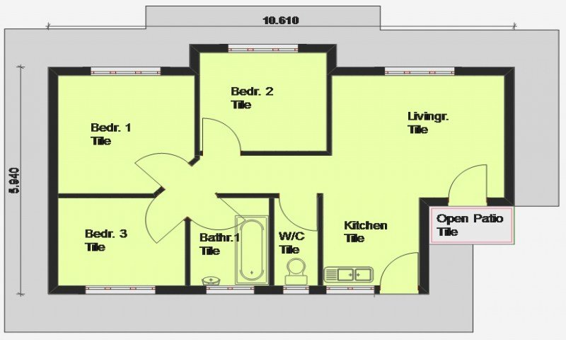 Best Cheap 3 Bedroom House Plan 3 Bedroom House Plan South With Pictures