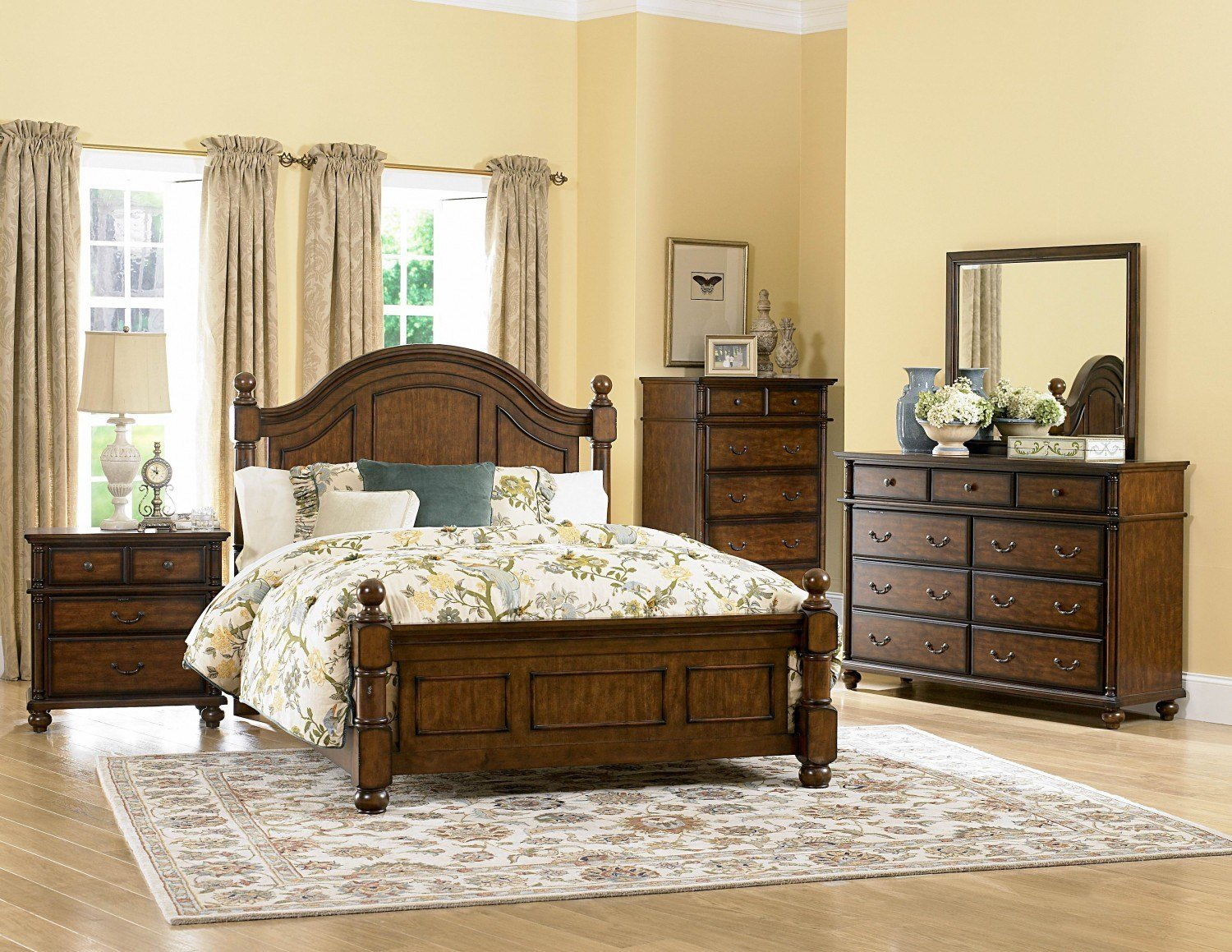 Best 4 Pc Homelegance Langston Bedroom Set With Pictures