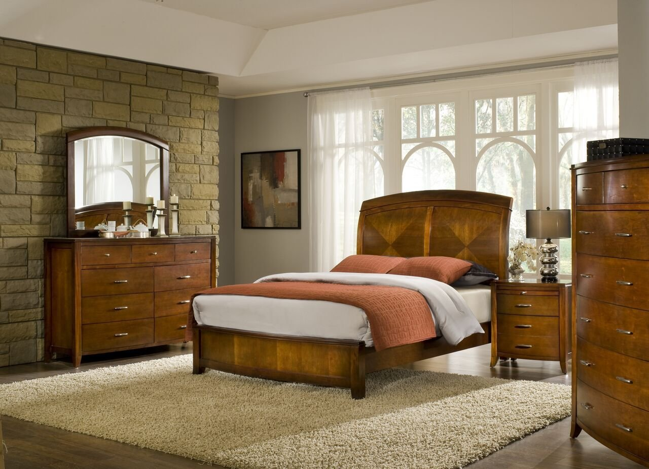 Best 4 Piece Modus Brighton Solid Wood Bedroom Set With Pictures