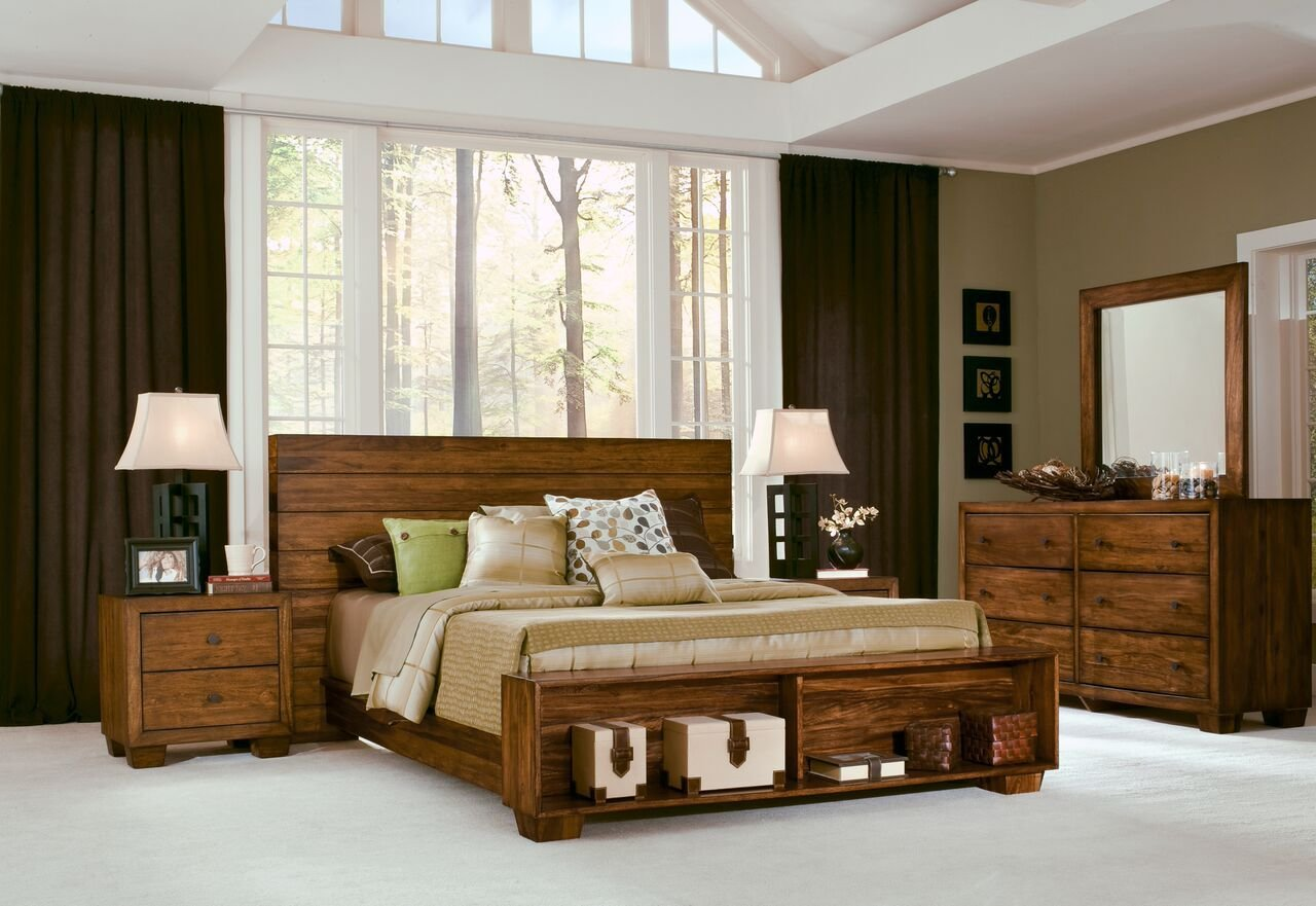 Best 4 Piece Modus Chelsea Park Solid Wood Bedroom Set With With Pictures