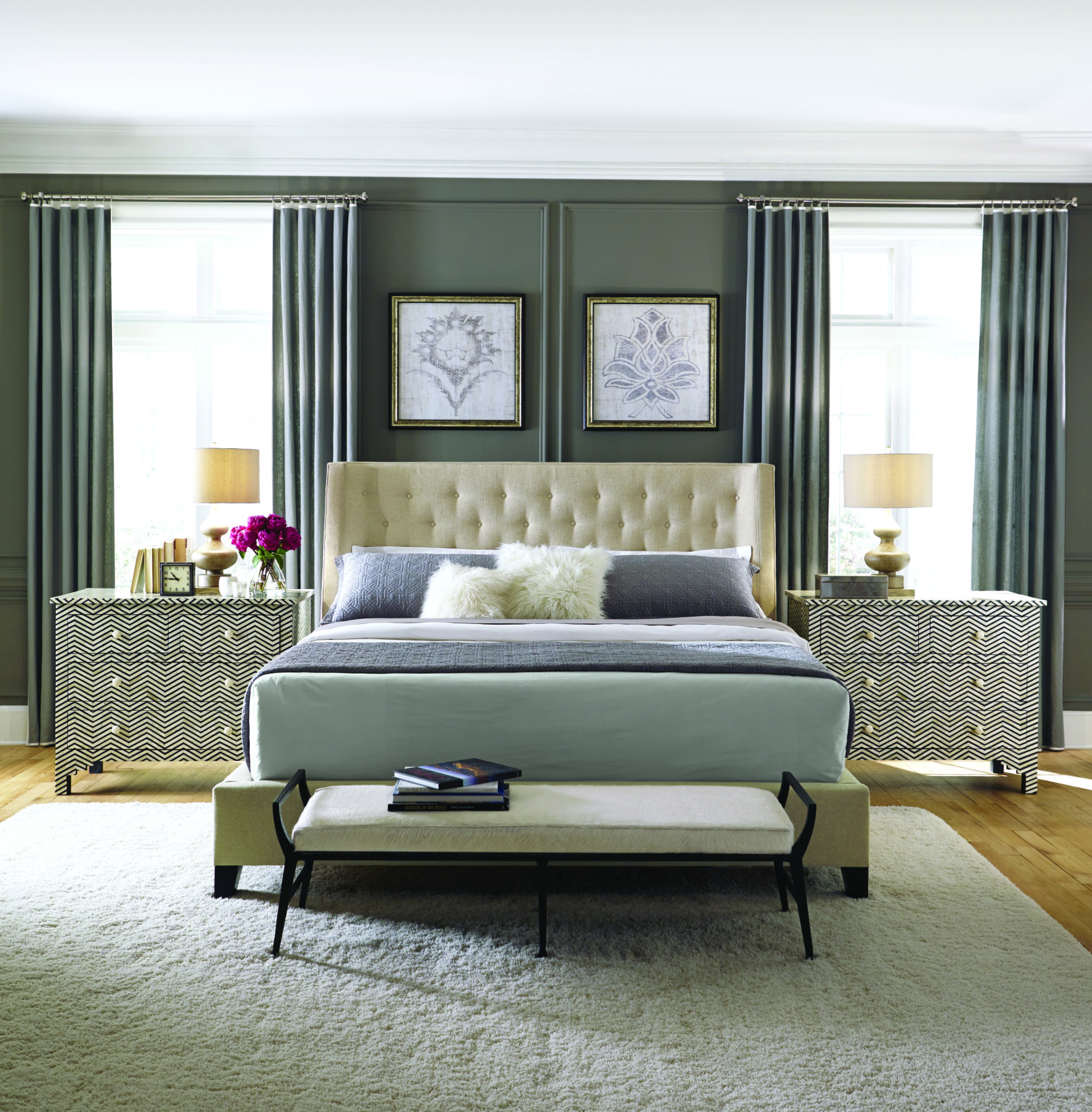 Best Maxime Herringbone Mansfield Bedroom Bernhardt With Pictures