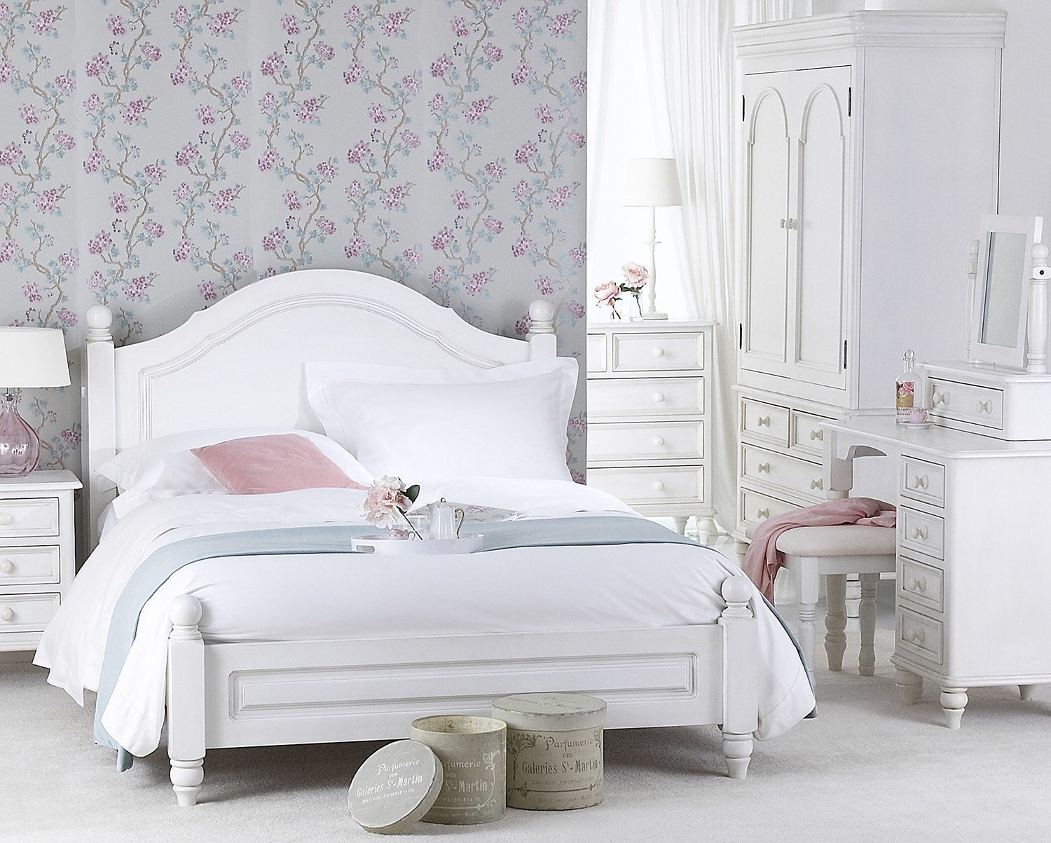 Best Provence Antique White Bedroom Furniture Shabby Chic With Pictures