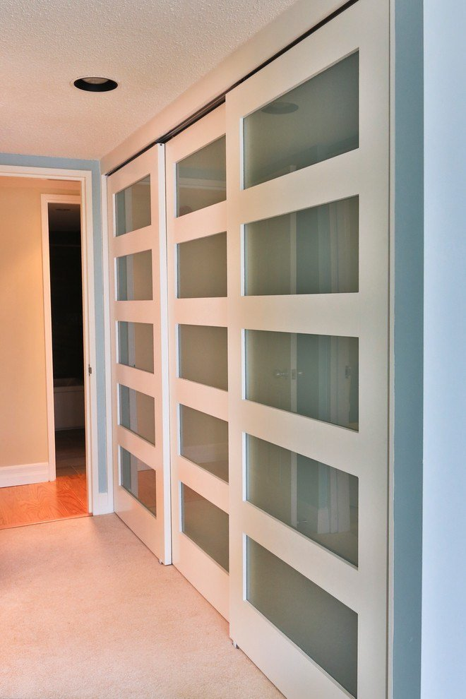 Best Modern Closet Doors Bedroom Contemporary With Built In With Pictures