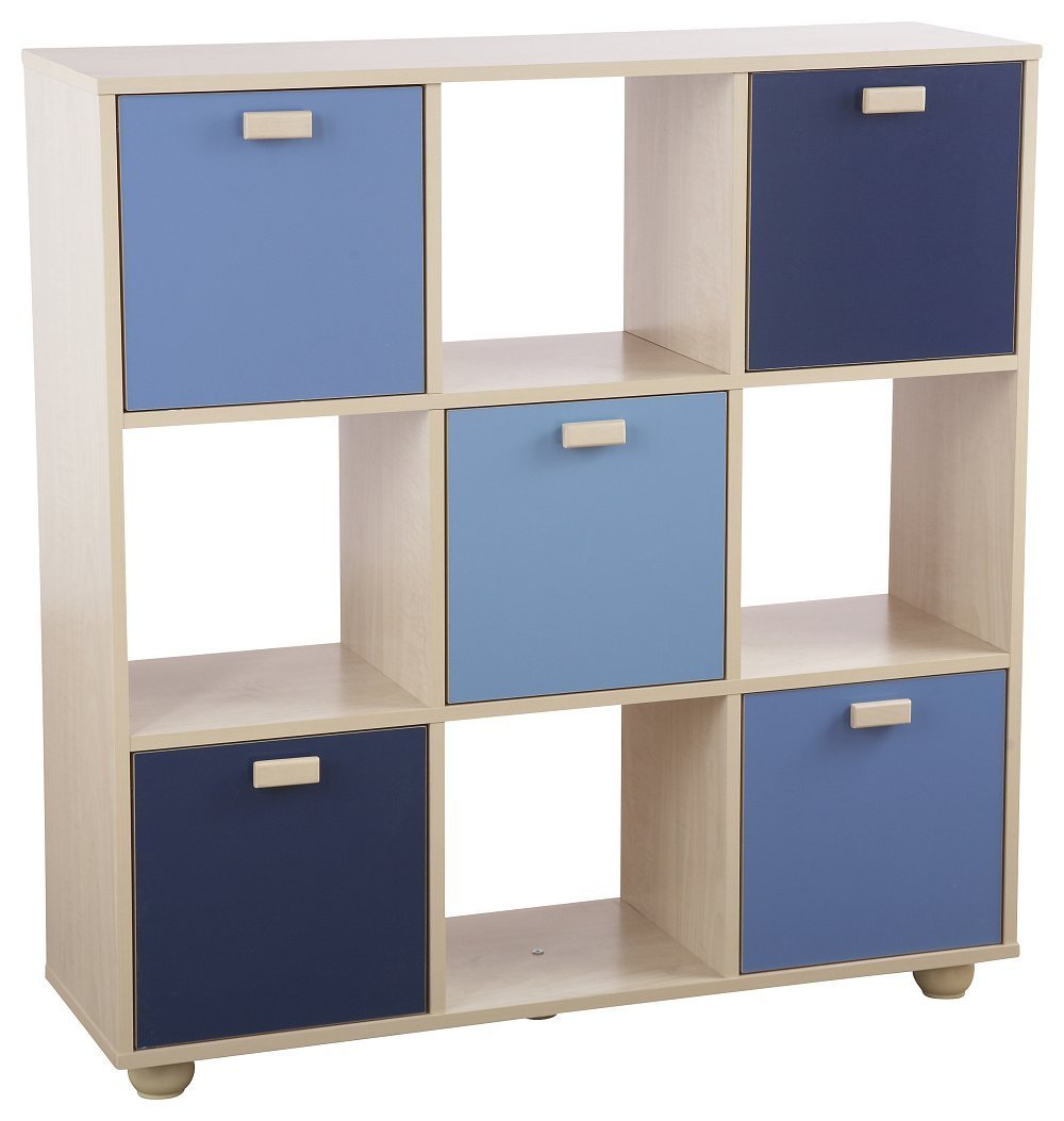 Best Blue Maple 5 Door 4 Cube Shelves Toy Storage Unit Boys With Pictures