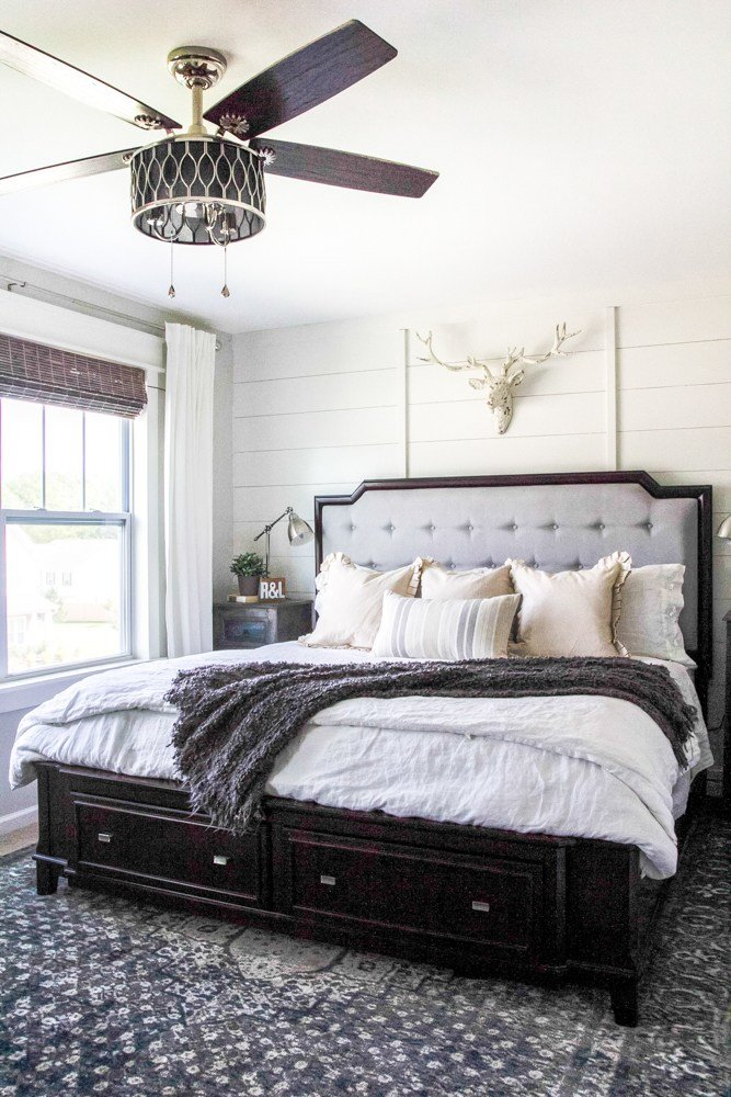 Best Rustic Modern Master Bedroom Reveal And Sources Bless Er With Pictures