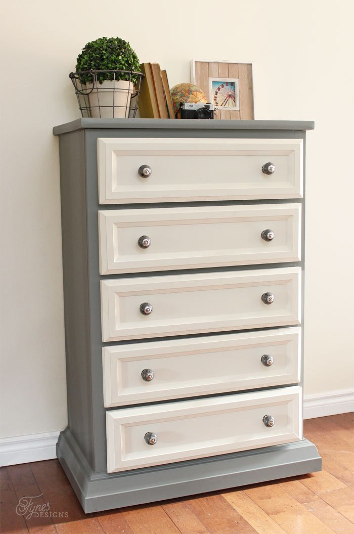 Best Tall Dresser Makeover Tutorial With Trim And Paint Fynes With Pictures
