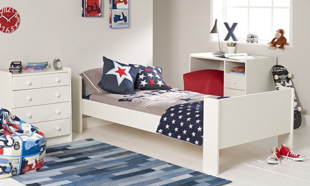Best Solitaire White Single Bed Chest Desk With Pictures