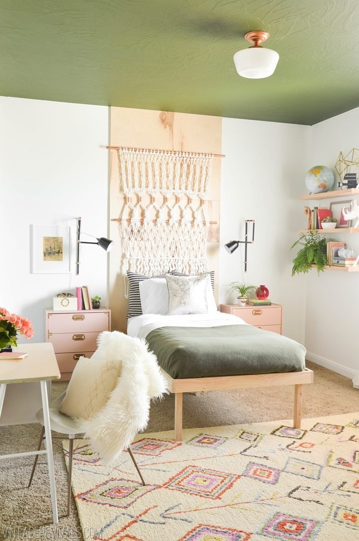 Best Macie's Boho Bedroom Makeover Reveal Vintage Revivals With Pictures