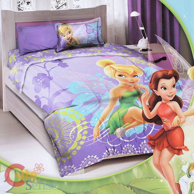 Best Disney Tinkerbell Fairies Twin Bedding Comforter Set 3Pc With Pictures
