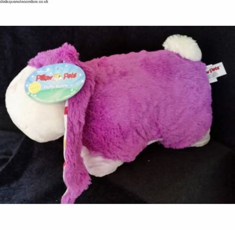 Best Online Pillow Pets 18 Fluffy Bunny Soft Toy Plbedroom Car With Pictures