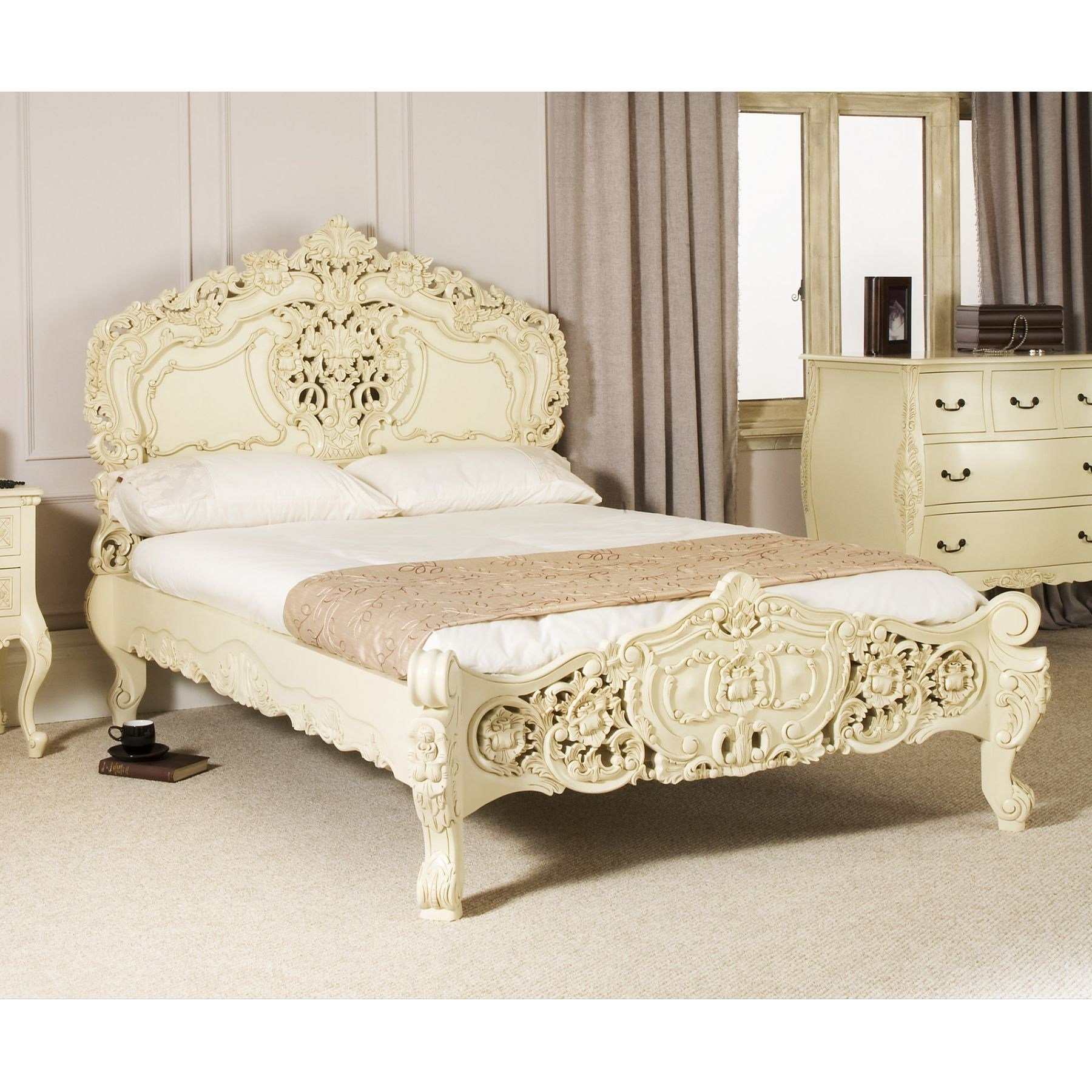 Best Cream Ivory Bedroom Furniture Cileather Home Design Ideas With Pictures