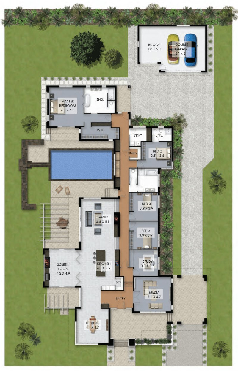 Best Floor Plan Friday Luxury 4 Bedroom Family Home With Pool With Pictures