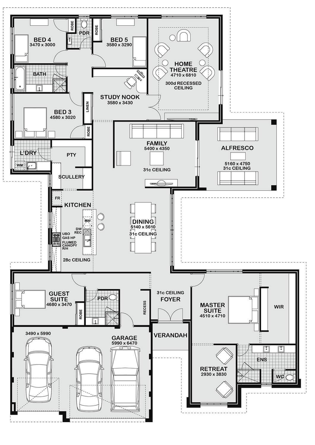 Best Floor Plan Friday 5 Bedroom Entertainer With Pictures
