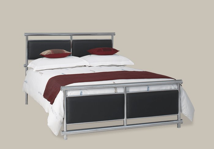 Best Chrome Bedroom Furniture By Obc Uk Tay Chrome Bed With Pictures