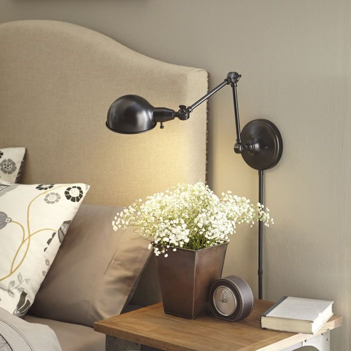 Best Reading Lamps For Bedroom With Wall Mounted Mount Swing With Pictures