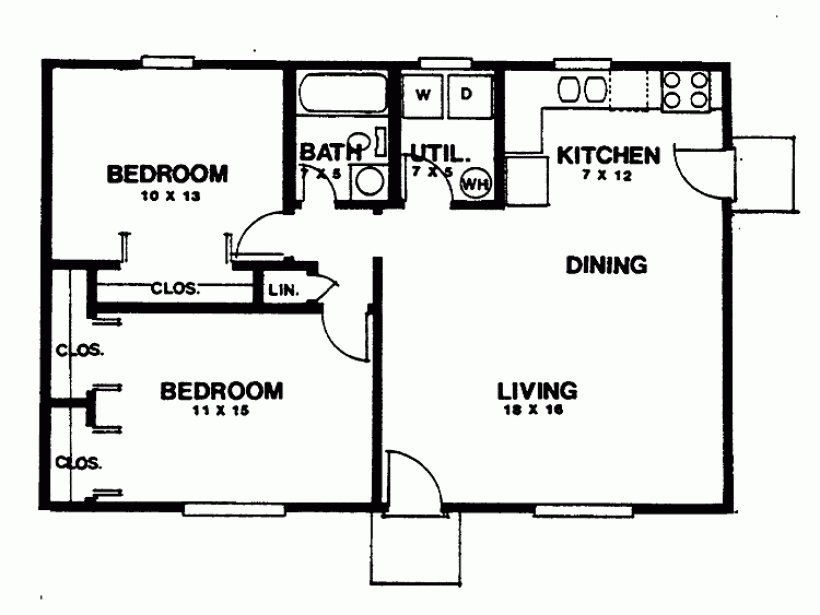 Best Two Bedroom House Plans Smalltowndjs Com With Pictures