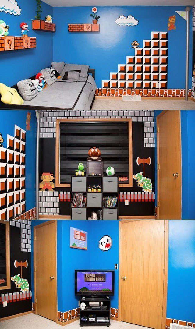 Best Super Mario Themed Bedroom Sprite Stitch With Pictures