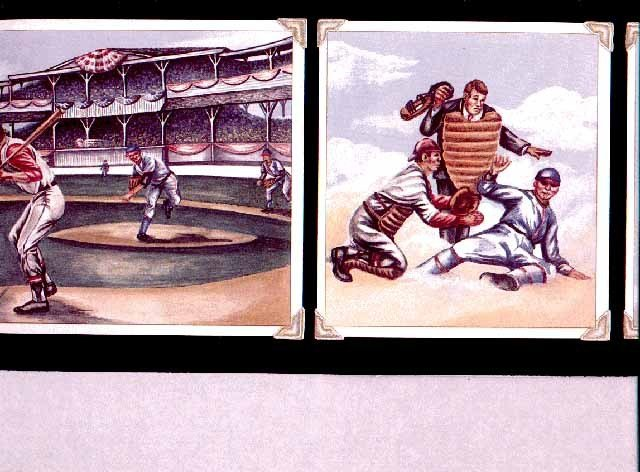 Best Boys Room Sport Baseball Wallpaper Border Ps1073B Ebay With Pictures