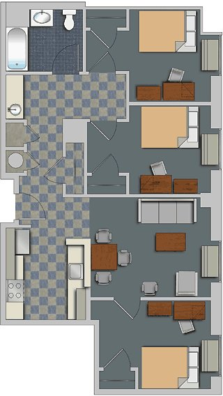 Best 180 West Market Apartment Layouts Office Of Housing With Pictures