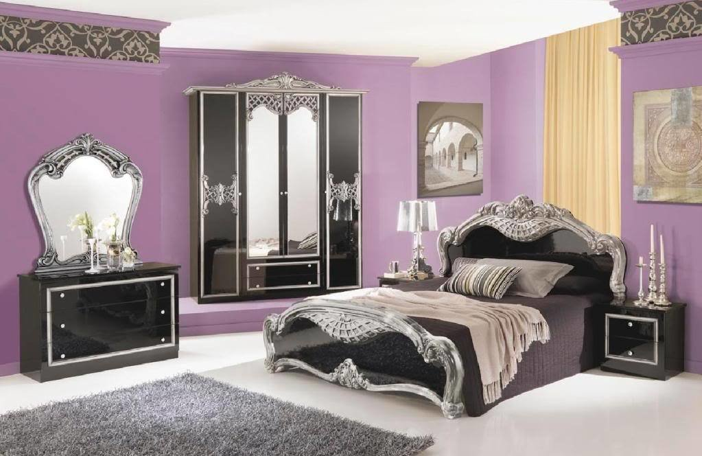 Best Black And Silver Bedroom Set 7 Free Wallpaper With Pictures
