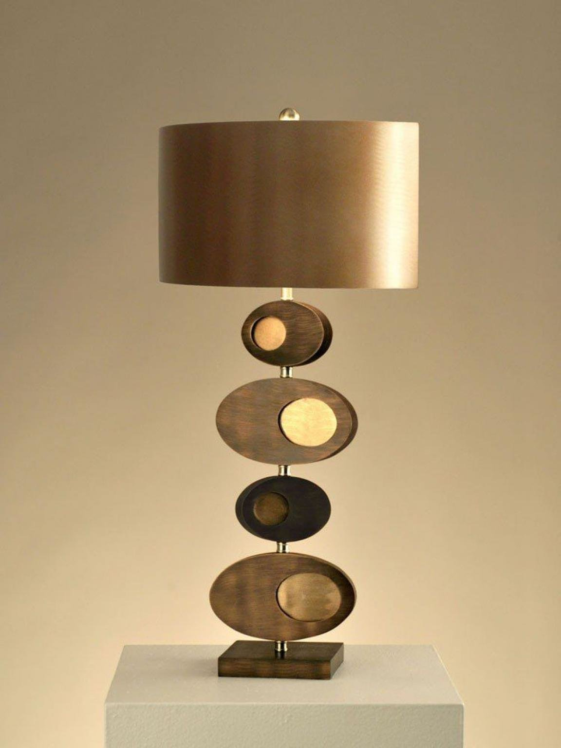 Best Unique Bedroom Table Lamps Modern Style Gold Scheme With Pictures