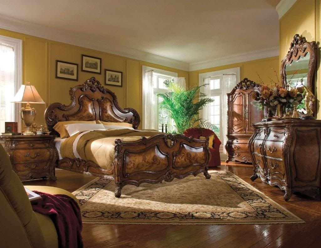 Best Palais Royale Queen 6 Piece Traditional Bedroom Furniture With Pictures