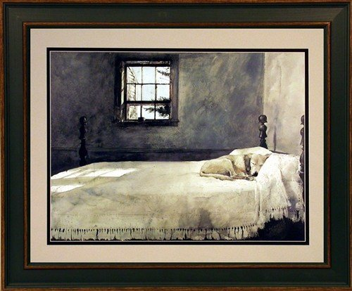 Best Andrew Wyeth Framed Dog Print Master Bedroom Ebay With Pictures
