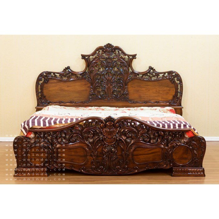 Best Reproduction Antique Solid Mahogany King Bedroom Set 5 Pc With Pictures