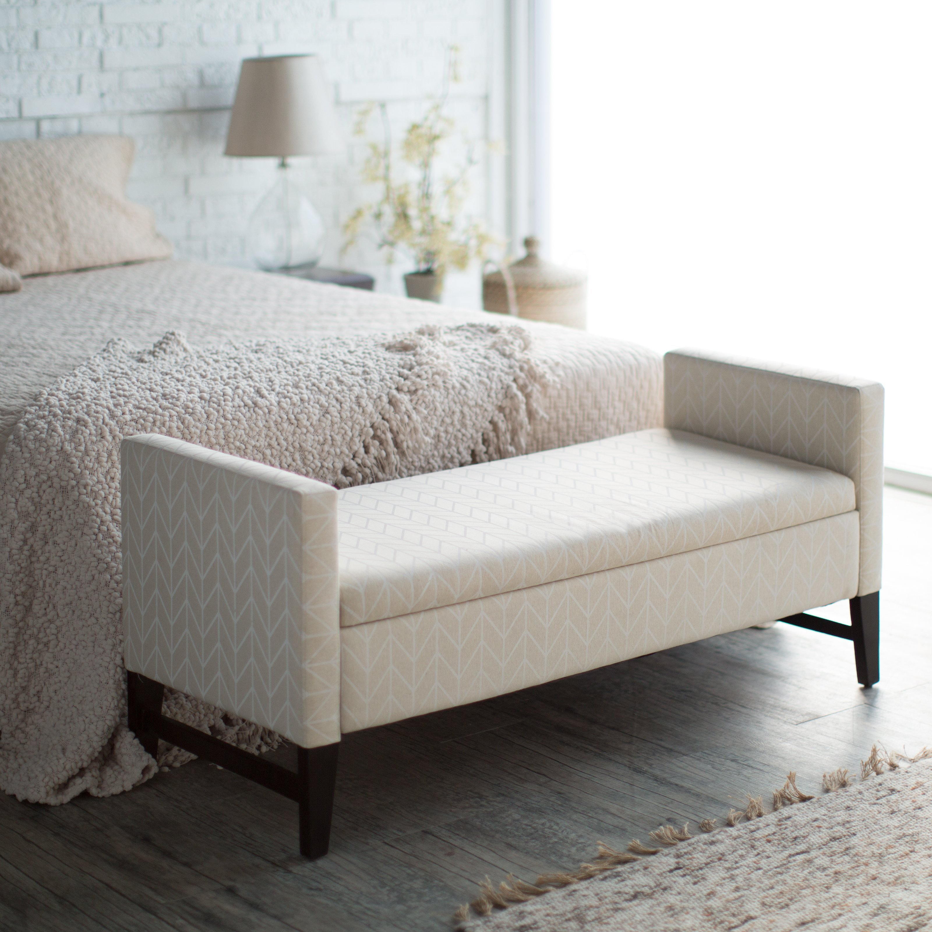 Best Belham Living Camille Upholstered Backless Storage Bench With Pictures