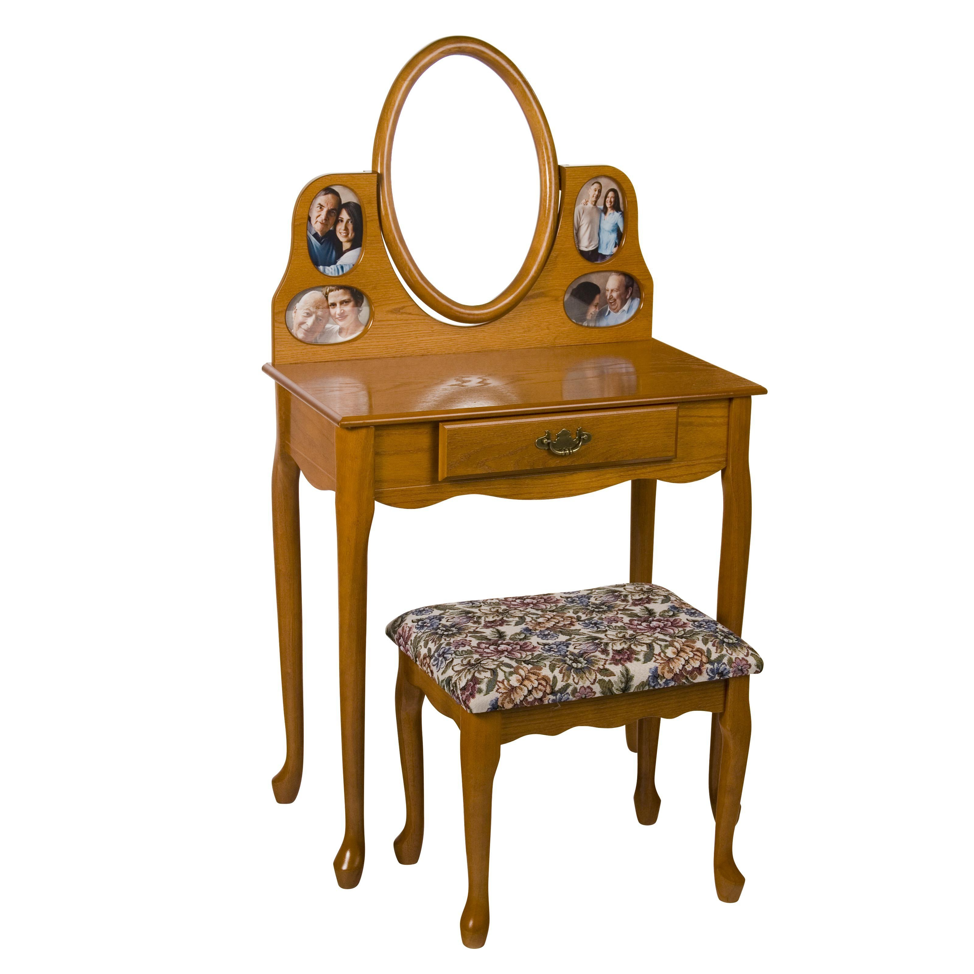 Best Oak Picture Frame Bedroom Vanity Set At Hayneedle With Pictures