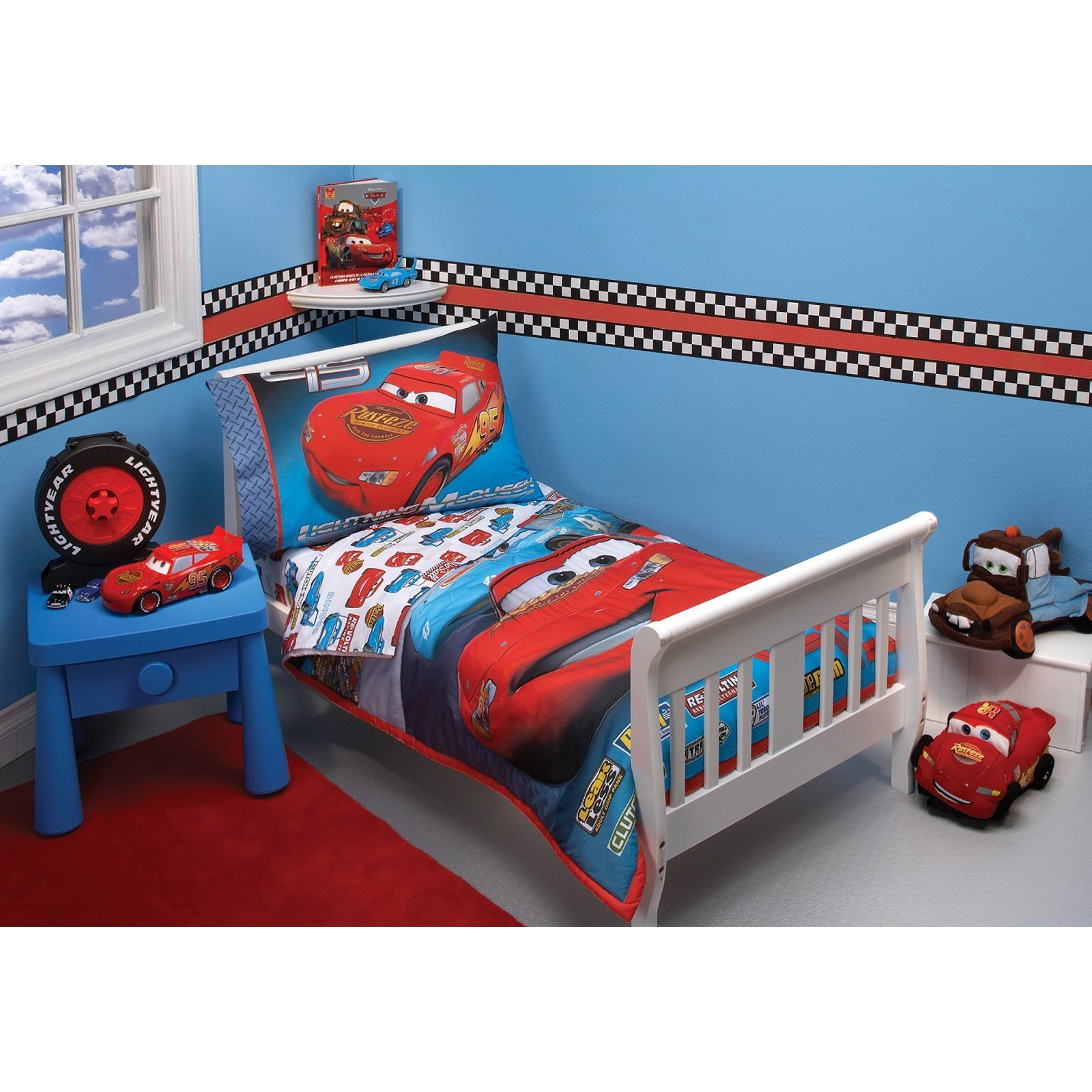 Best Disney Cars Taking The Race 4 Pc Toddler Bedding Set At With Pictures