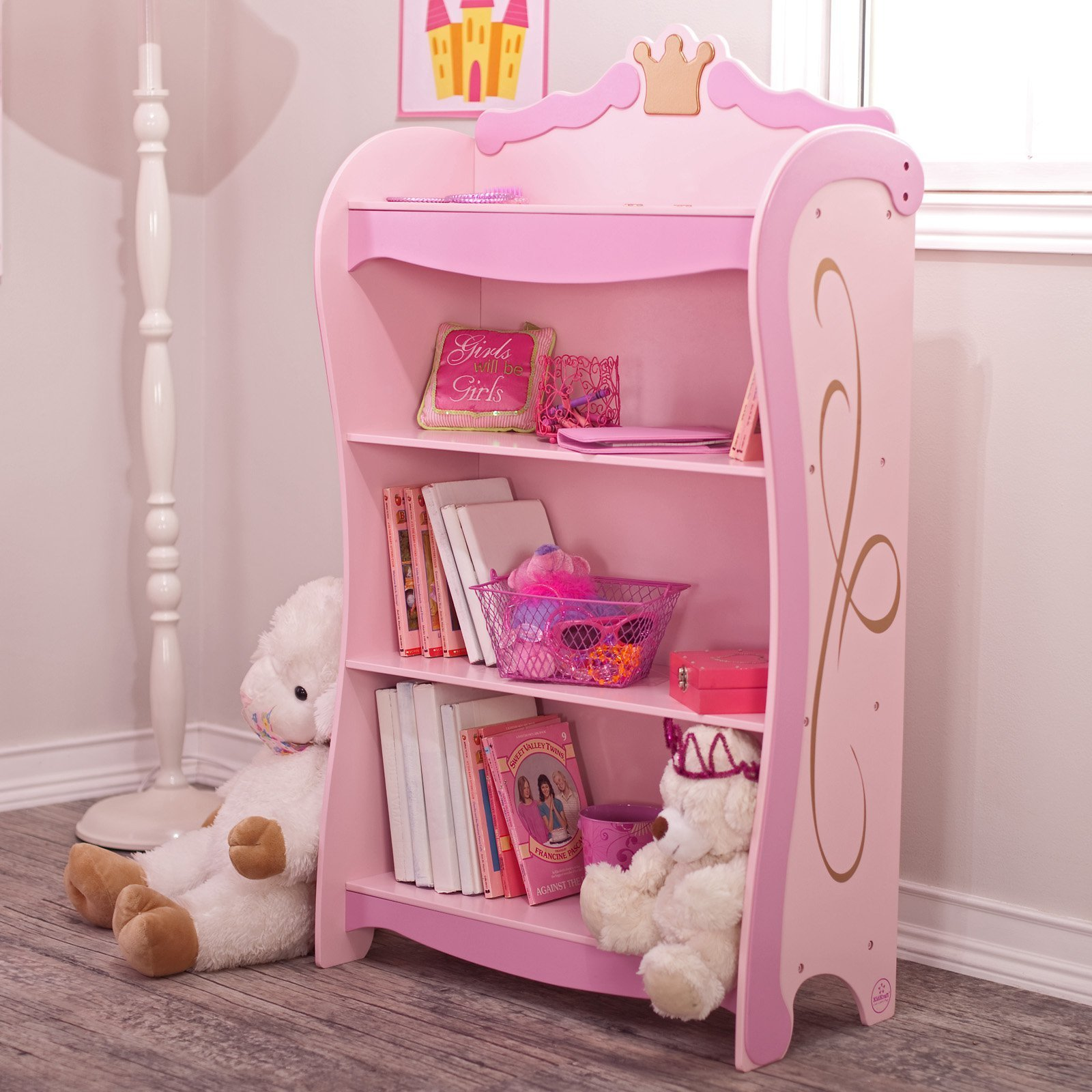 Best Kidkraft Pink Princess 4 Shelf Bookcase 76126 Kids With Pictures