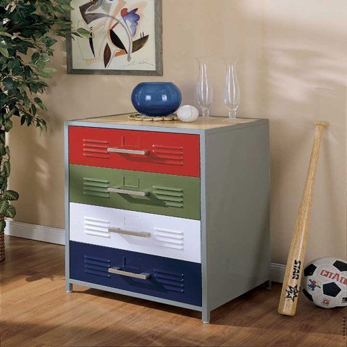 Best Powell Locker Room Style 4 Drawer Dresser At Hayneedle With Pictures