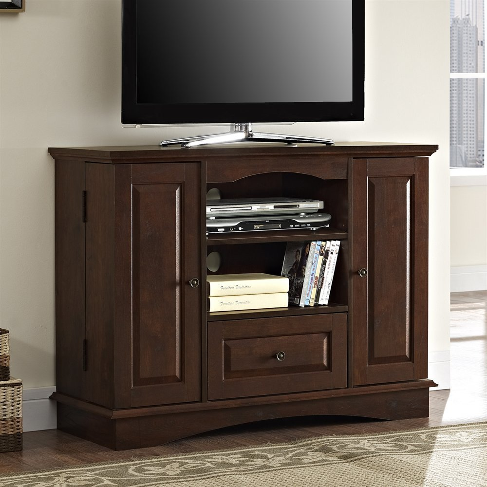 Best Walker Edison Wq42Bc3 Bedroom Tv Console With Media With Pictures