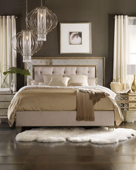 Best H**K*R Furniture Ilyse Mirrored Bedroom Furniture With Pictures