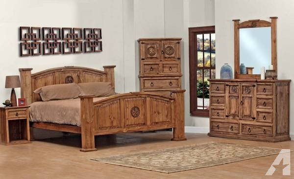 Best Brand New Queen Size All Wood Oversized Rustic Bedroom With Pictures