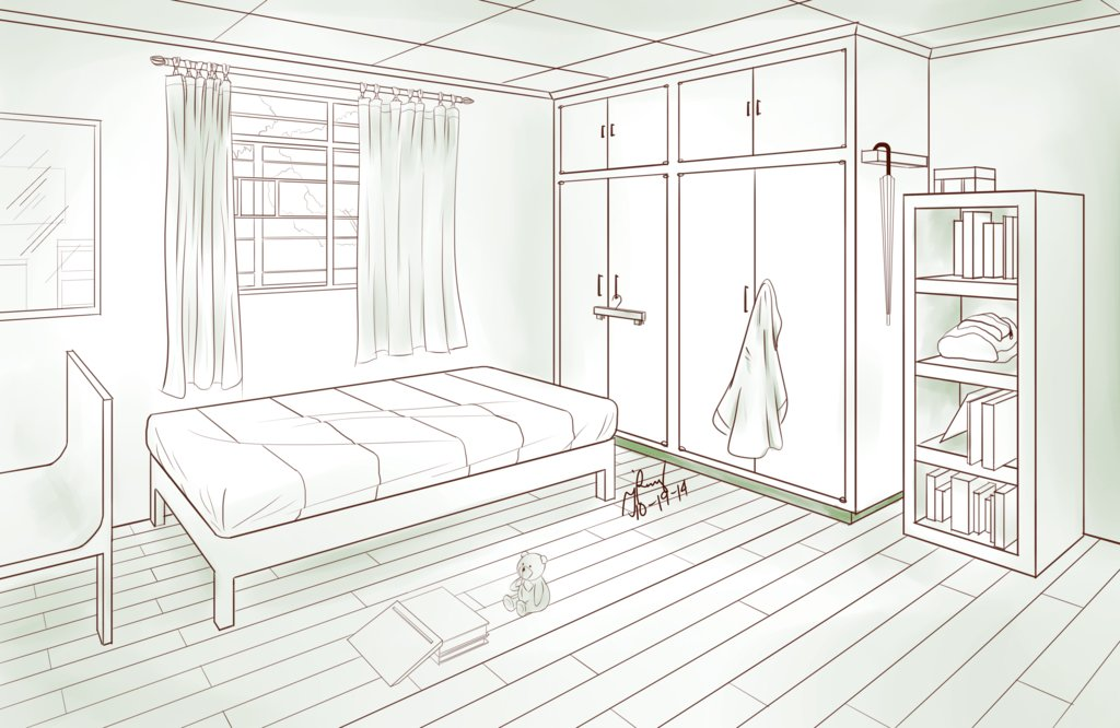 Best Bedroom Two Point Perspective By Pixelizedfate On Deviantart With Pictures