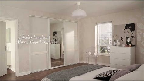 Best Shaker Panel And Mirror Door White Sliding Wardrobe With Pictures