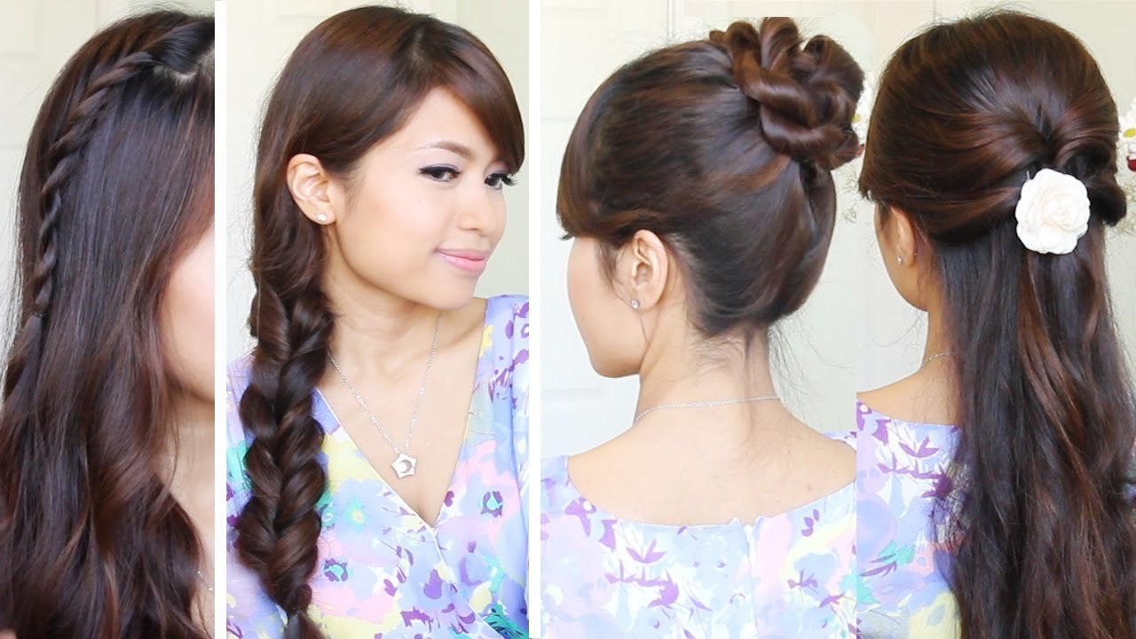 Free Quick Easy Back To School Hairstyles Hair Tutorial Youtube Wallpaper