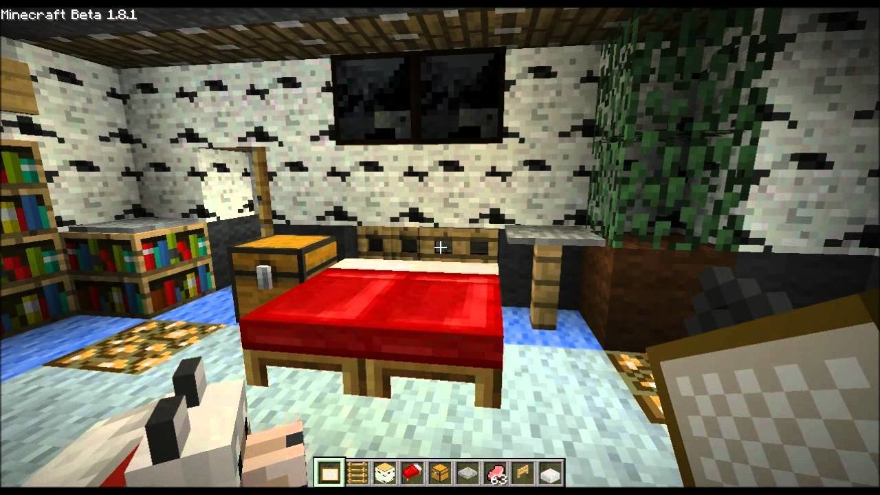 Best Minecraft Home Design Ep 16 Small Bedroom Bed Trick And With Pictures