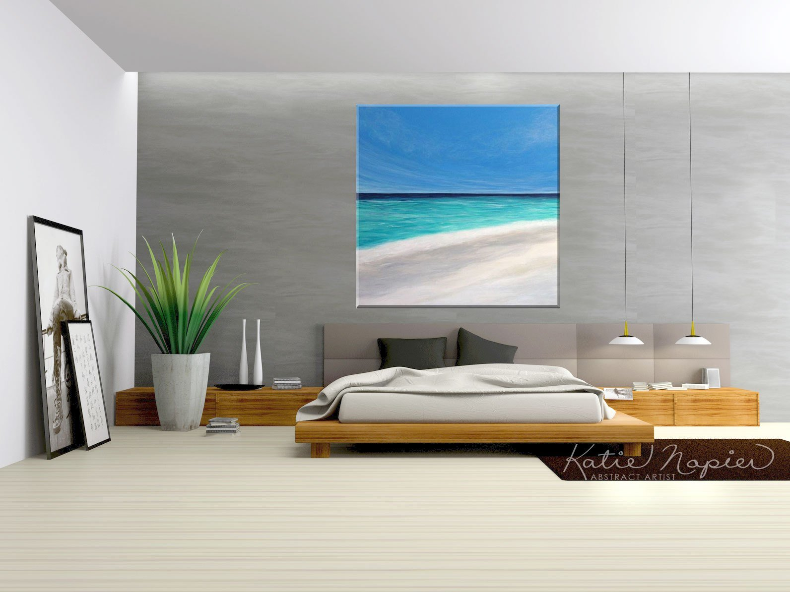 Best Vancouver Abstract Art Large Beach Painting Katie With Pictures