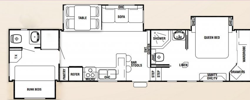 Best Bunkhouse Travel Trailer Floor Plans Bedroom Motorhome With Pictures