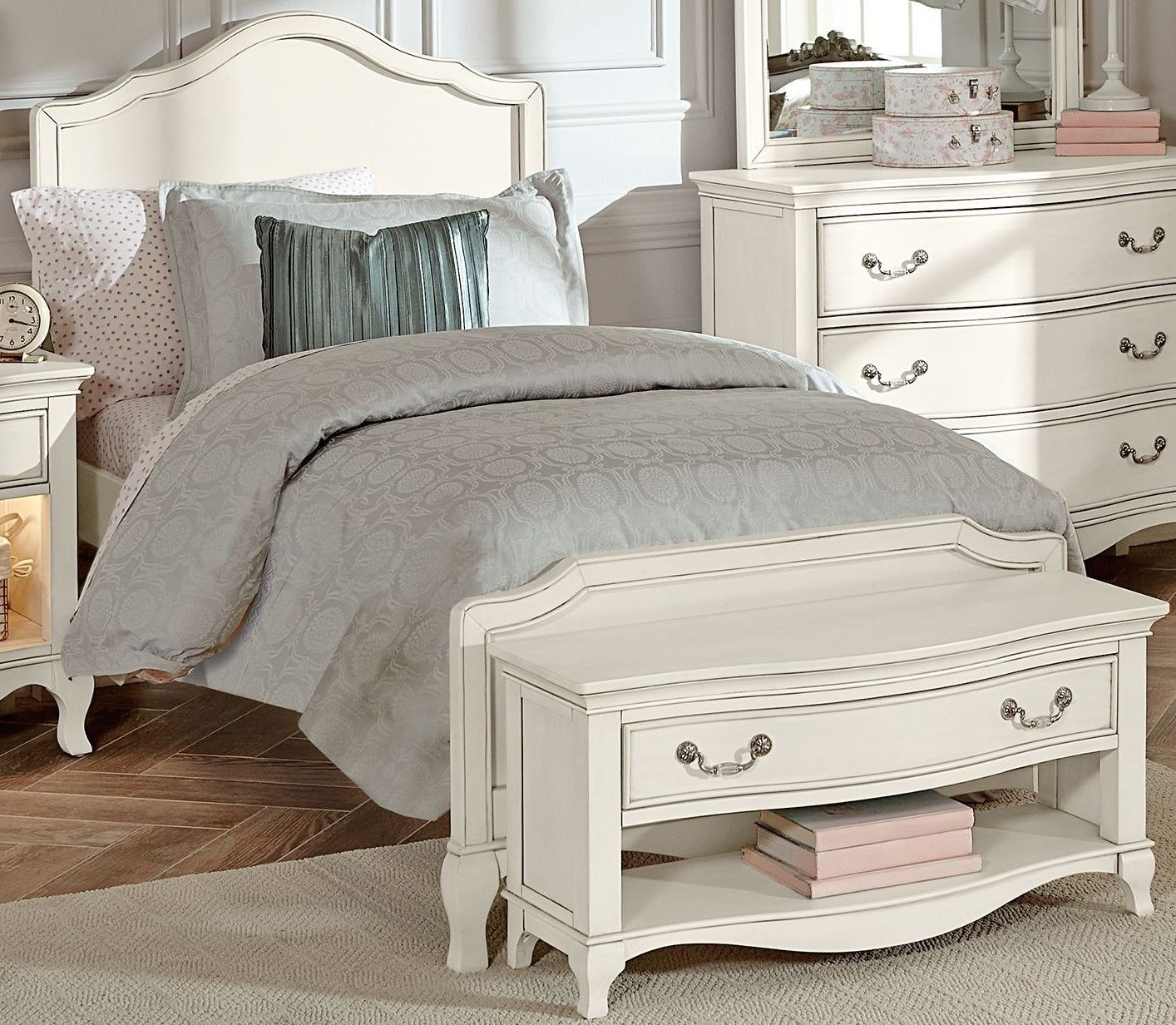 Best Kensington Antique White Charlotte Youth Panel Bedroom Set 20010N Ne Kids With Pictures