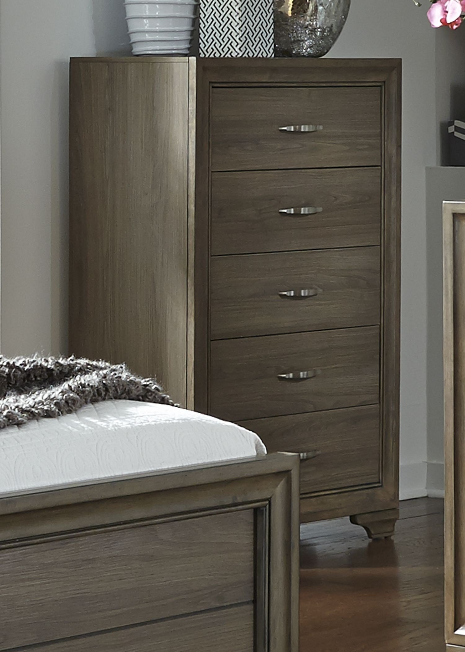 Best Hartly Gray Wash Upholstered Panel Bedroom Set 283 Br Qub With Pictures