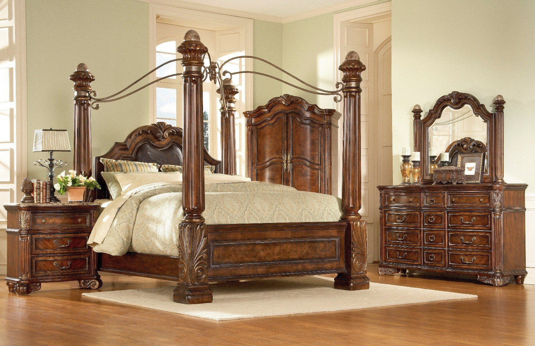 Best Regal Poster Bedroom Set From Art 142156 Coleman Furniture With Pictures