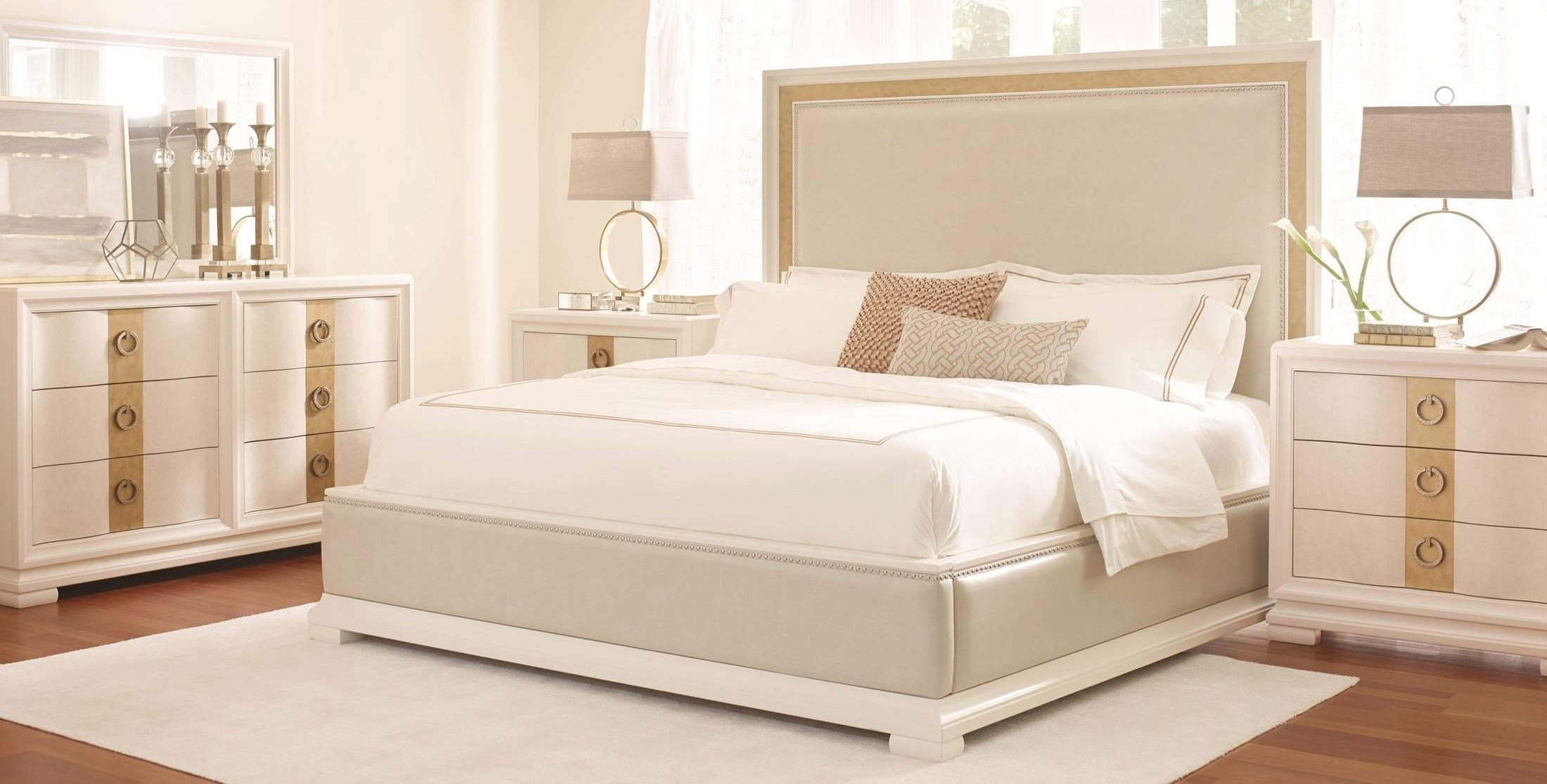 Best Tower Suite Pearl Upholstered Platform Bedroom Set From With Pictures
