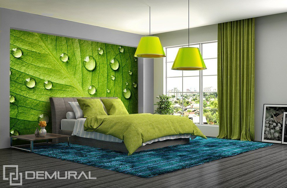 Best I Feel The Green Walls With Leafs Bedroom Wallpaper With Pictures