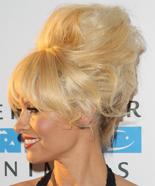 Free Pamela Anderson Long Straight Alternative Updo Hairstyle Wallpaper