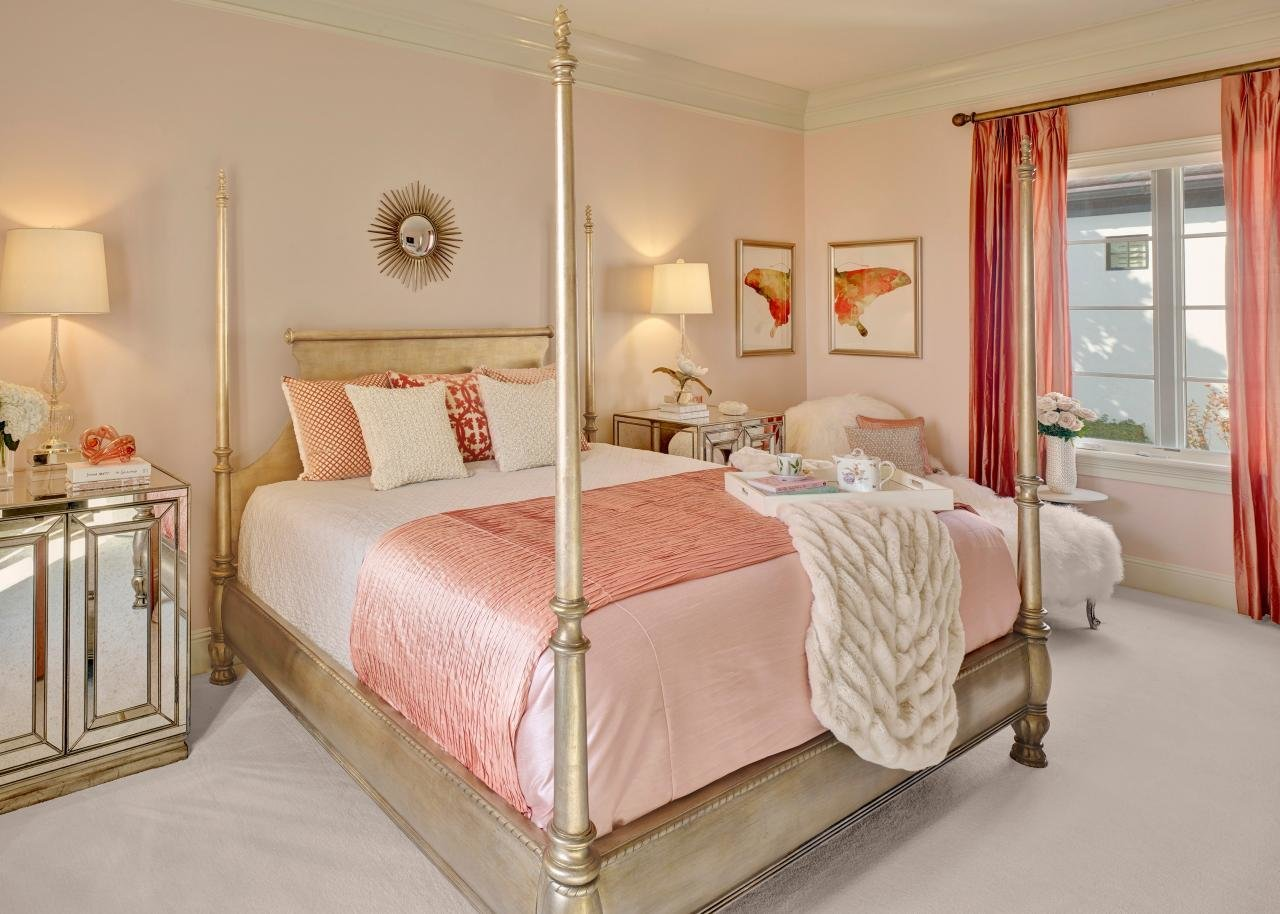 Best Pretty In Pink Master Bedroom Hgtv With Pictures