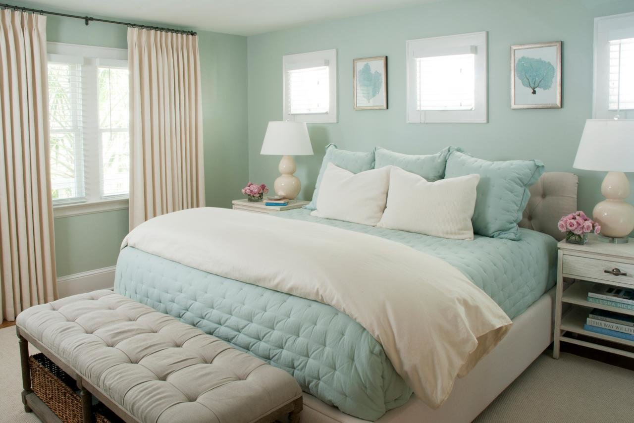 Best Seafoam Green Bedroom Features Lovely Coastal Design Hgtv With Pictures
